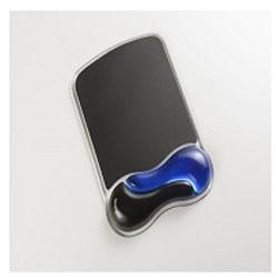 K62401JP GEL Wave リストレスト付き マウスパッド(190×250×25mm/ブルー)