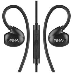 RHA 耳かけカナル型イヤホン(ブラック)T20i Black<1.35mコード>(iPod/iPhone/iPad用)[マイク付]【ハイレゾ音源対応】