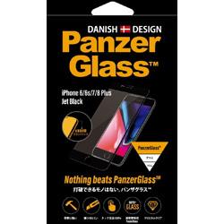 PanzerGlass(パンザグラス) iPhone 6/6s/7/8 Plus Jet Black/Black 衝撃吸収 全画面保護 ラウンドエッジ ダブル強化ガラス 4層構造