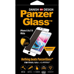 PanzerGlass(パンザグラス) iPhone 6/6s/7/8 White 衝撃吸収 全画面保護 ラウンドエッジ ダブル強化ガラス 4層構造