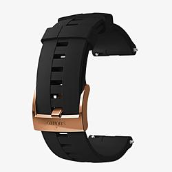 時計関連品/腕時計替えベルト 24 ATH4 SILICONE STRAP BLACK/COPPER M SS023313000 ブラック
