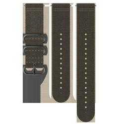 24MM EXPLORE2 TEXTILE STRAP M+L SS050229000 FOLIAGE/GRAY