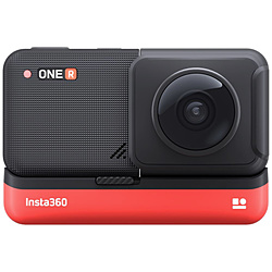 SHENZHENARASHIVISION レンズ交換対応アクションカメラ [Insta360 ONE R ツイン版] 360度モジュール + 4K広角モジュール CINAKGP/A  [4K対応 /防水]