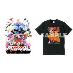 SME 【ソフマップ限定】 プロメア 完全生産限定版 BD + 描き下ろしイラスト使用 Tシャツ(カラー:ブラック Mサイズ) セット