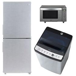 ソフマップ 一人暮らし家電セット3点 [URBAN CAFE_A] (冷蔵庫:148L、洗濯機、電子レンジ)