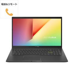 ノートパソコン VivoBook 15 K513EA インディーブラック K513EA-BC158TS + 電話&リモート
