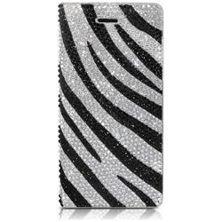 iPhone 7用 手帳型レザーケース Perisian Safari Leather Diary ゼブラ dreamplus DP61759i7