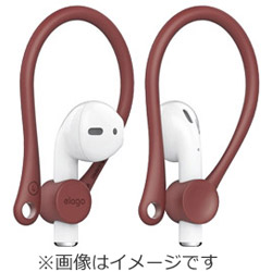 Ear Hook(イヤーフック) for AirPods(エアーポッズ)EL_APDCSTPEH_RD Red