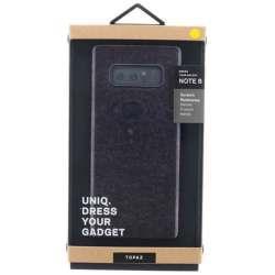 Galaxy Note8用 シェル型ケース グリッターデザイン Topaz Champagne・ブラック VIVA MADRID GN8HYB-TPZBLK