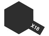 タミヤカラー エナメル X-18 セミグロスブラック (光沢)