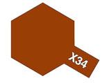 タミヤカラー エナメル X-34 メタリックブラウン (光沢)
