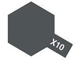 タミヤカラー アクリルミニ X-10 ガンメタル (光沢)