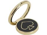 〔スマホリング〕 kate spade new york Universal Stability Ring KSUNV-001-GBLK Gold/Black Enamel