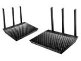 RT-AC67U (2台セット) デュアルバンドWi-Fi無線ルーター [11ac/n/a/g/b 1300Mbps+600Mbps] メッシュWi-Fiシステム機能「AiMesh」搭載