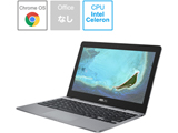 ノートパソコン Chromebook (クロームブック) C223NA グレー C223NA-GJ0018 [11.6型 /intel Celeron /eMMC:32GB /メモリ:4GB /2020年6月モデル]