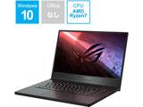 【ASUSゲーミングPC祭】 GA502IV-R7R2060 ゲーミングノートパソコン ROG Zephyrus G15 ブラック [15.6型 /AMD Ryzen 7 /SSD:512GB /メモリ:16GB /2020年5月モデル]