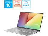 ノートパソコン VivoBook 15 X512JA トランスペアレントシルバー X512JA-EJ092TS [15.6型 /intel Core i7 /SSD:512GB /メモリ:16GB /2020年6月モデル]