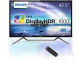42.5型ワイド 4K対応MVA液晶ディスプレイ 5年間フル保証 HDR1000 436M6VBPAB/11 ブラック [ワイド /4K(3840×2160)]
