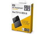 WDBP6A0040BBK-JESE(ブラック) ポータブルHDD 4TB[USB-A 3.0・Mac] My Passport 2018年発売モデル