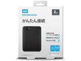WDBUZG0020BBK-JESN(ブラック) ポータブルHDD 2TB[USB-A 3.0・Win] WD Elements Portable 2018年発売モデル