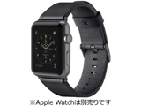 Classic Leather Band for Apple Watch 42mm Black F8W732btC00