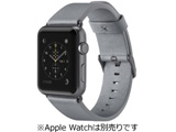 Classic Leather Band for Apple Watch 38mm Gray F8W731btC02