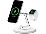 MagSafe急速充電対応 iPhone,apple watch, AirPods 同時充電可能 3in1 ワイヤレス充電器 WIZ009dqWH ホワイト  ホワイト WIZ009DQWH