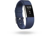 ウェアラブル端末 心拍計+フィットネスリストバンド 「Fitbit Charge 2」 Lサイズ FB407SBUL-JPN Blue