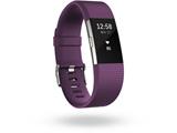 ウェアラブル端末 心拍計+フィットネスリストバンド 「Fitbit Charge 2」 Lサイズ FB407SPML-JPN Plum