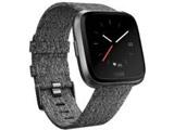 Fitbit フィットビット スマートウォッチ Versaスペシャルエディション  Chacoal Woven  L/Sサイズ FB505BKGY-CJK チャコール/グラファイトアルミニウム
