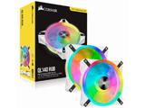 ケースファン[140mm / 1250RPM] 2個セット QL140 RGB White Fan Kit  CO-9050106-WW