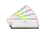 増設メモリ DOMINATOR PLATINUM RGB ホワイト CMT32GX4M4C3600C18W [DIMM DDR4 /8GB /4枚]
