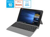 モバイルノートPC TransBook T103HAF-8350 スレートグレー [Win10 Home・Atom x5・10.1インチ・Office付き・eMMC 64GB・メモリ 4GB]