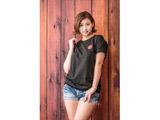 """sayama×SUP Tシャツ """"POP唇"""" [ブラック S]"""