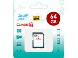 64GB・Class10対応 SDXCカード SD-CLASS10-64GB