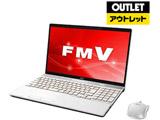 【アウトレット】 ノートPC LIFEBOOK(ライフブック) FMVA77C2W プレミアムホワイト [Core i7・15.6インチ・Office付き・SSD 128GB・メモリ 8GB]