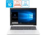 【アウトレット】 ノートPC ideapad 330 81DE001QJP ブリザードホワイト [Core i3・15.6インチ・Office付き・HDD 500GB・メモリ 4GB]