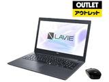 【アウトレット品】 ノートパソコン LAVIE Note Standard PC-NS700MAB カームブラック [Core i7・15.6インチ・Office付き・HDD 1TB・Optane 16GB・メモリ 8GB]