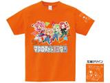 【店頭併売品(AKIBA�C号店)】 [オレンジ/M] マクとま(マクロスがとまらない)Tシャツ Ver.3 「歌は…ア・タ・シ♪」 オレンジ/Mサイズ