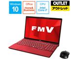 【アウトレット】 ノートPC LIFEBOOK AH53/D1 FMVA53D1R ガーネットレッド [Core i7・15.6インチ・Office付き・HDD 1TB・メモリ 8GB]