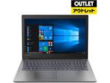 【外装不良品】 ノートPC ideapad 330 81DC00NAJP オニキスブラック (Core i3・15.6型・HDD 500GB・メモリ 4GB・Office付き)