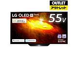 OLED55BXPJA 有機ELテレビ ブラック [55V型 /4K対応 /BS・CS 4Kチューナー内蔵 /YouTube対応] 【外装不良品】