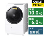 ドラム式洗濯機 ビッグドラム ホワイト BD-SG100FL-W [洗濯10.0kg /乾燥6.0kg /ヒーター乾燥(水冷・除湿タイプ) /左開き] 【生産完了品】