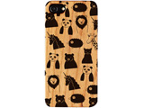 iPhone8/7/6s/6 FRAPBOIS WOOD ZOO BLACK AB-0852-IP67