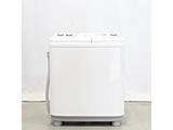 〔展示品〕2槽式洗濯機 AQW-N52BK-W ホワイト [洗濯5.2kg /上開き]