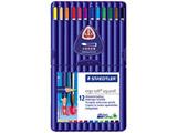 [水彩色鉛筆] ステッドラー エルゴソフト アクェレル 水彩色鉛筆 12色セット 156 SB12