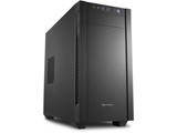 S1000 SHA-S1000-V (ミニタワーケース/電源別売り/ブラック/メタルサイドパネルモデル)