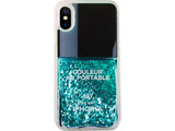 【在庫限り】 Liquid Case for Apple iPhone X/XS - Nail Polish Turquoise 15197