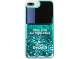 【在庫限り】 Liquid Case for Apple iPhone 7+ / 8+ - Nail Polish Turquoise 15412