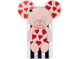 【在庫限り】 Case for Apple iPhone 7 / 8 - Teddy with Hearts Stripes Black and White 15422